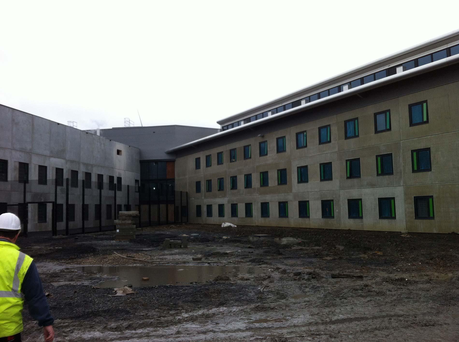 Gevangenis Leuze blowerdoor metingen februari 2014 EPB LIPA in samenwerking met EMAD