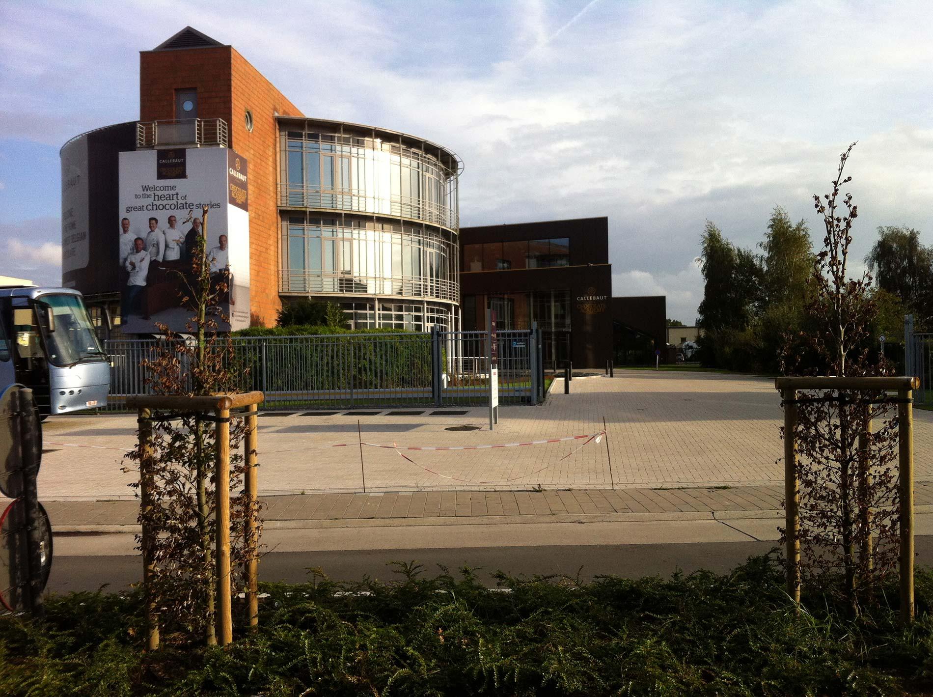 Callebaut Wieze blowerdoor meting Chocolate Academy Centre 10/2014