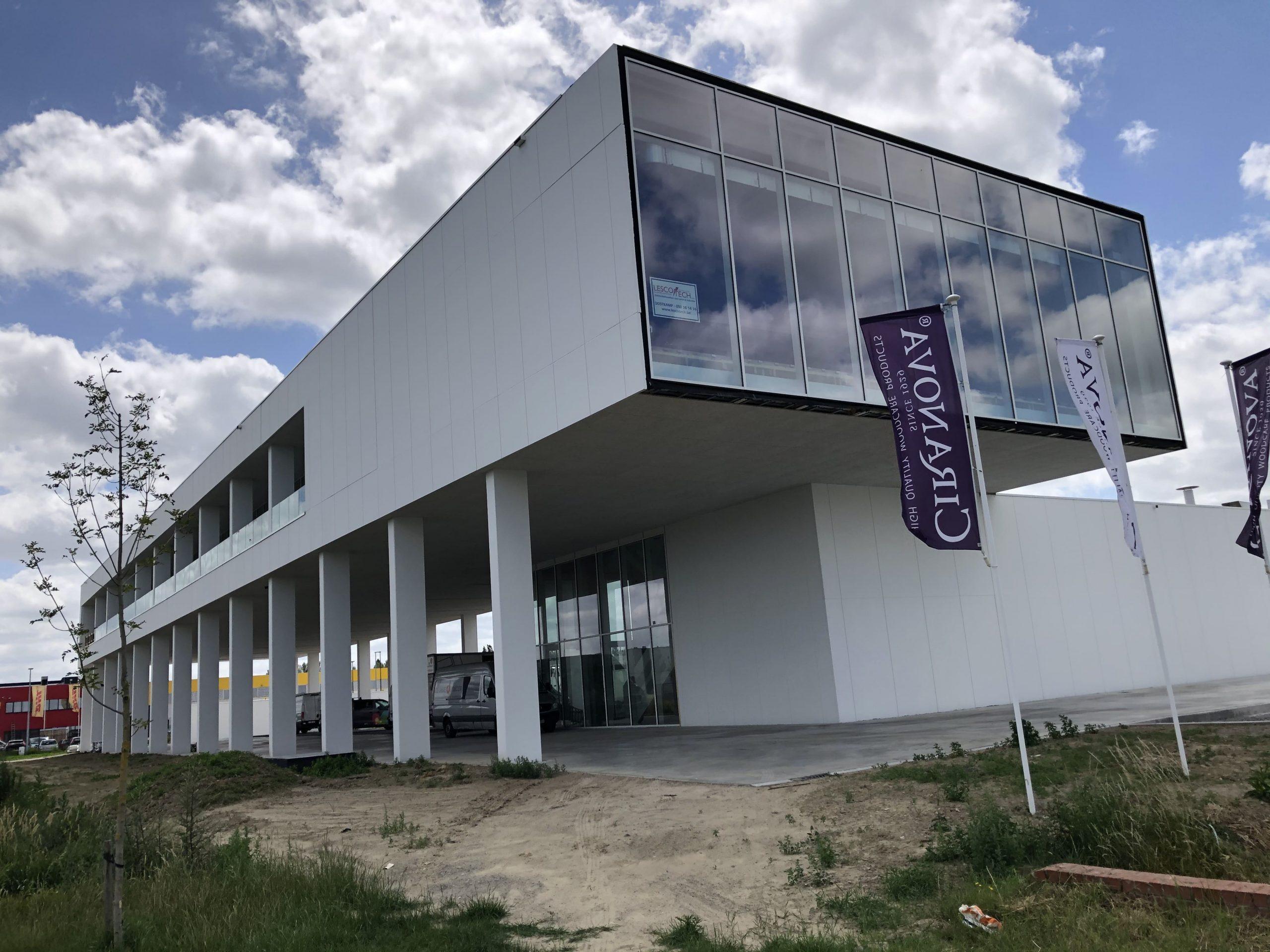 Blowerdoortest kantoor Ciranova Roeselare