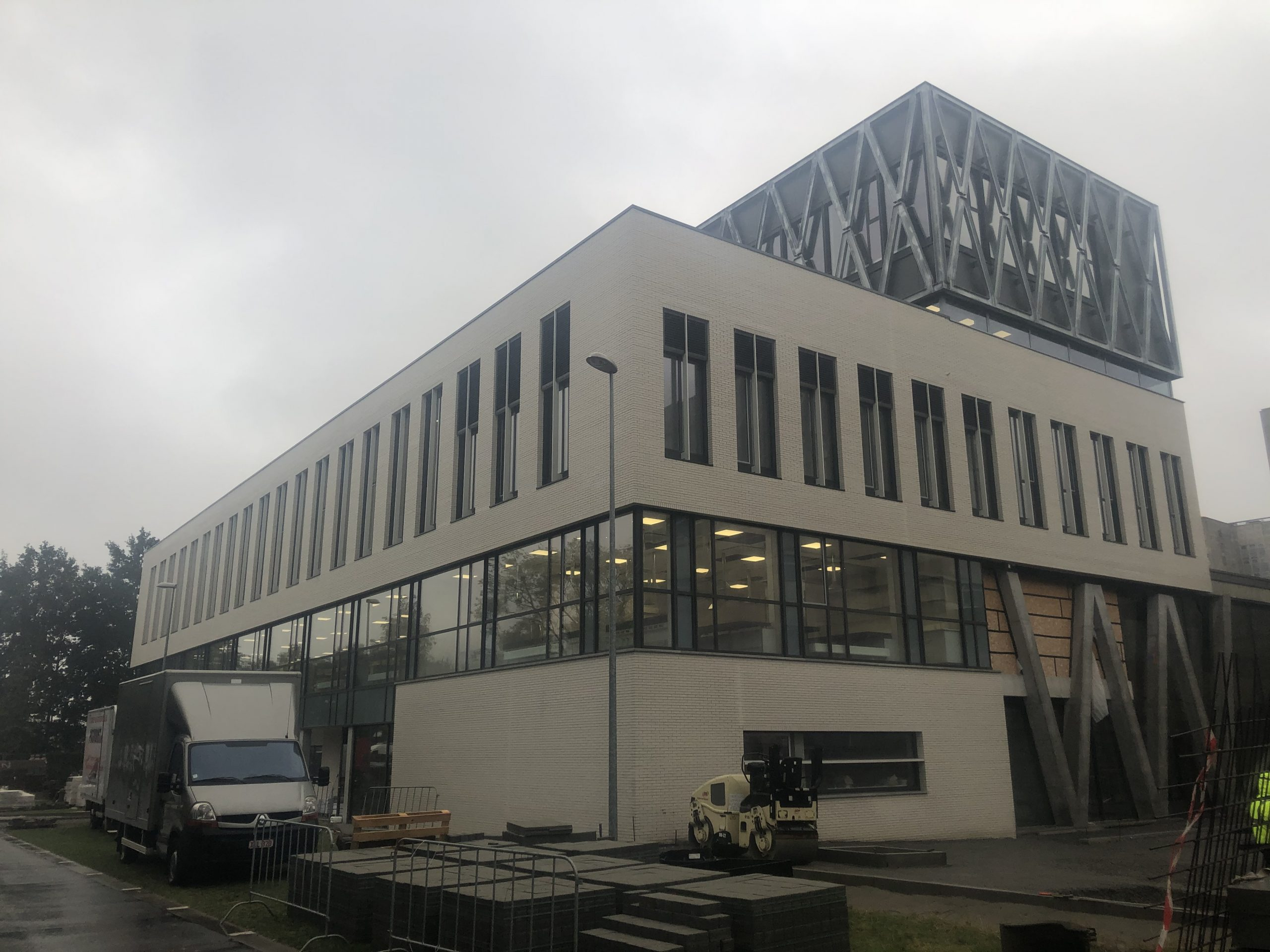 Blowerdoortest Campus Heymans Gent