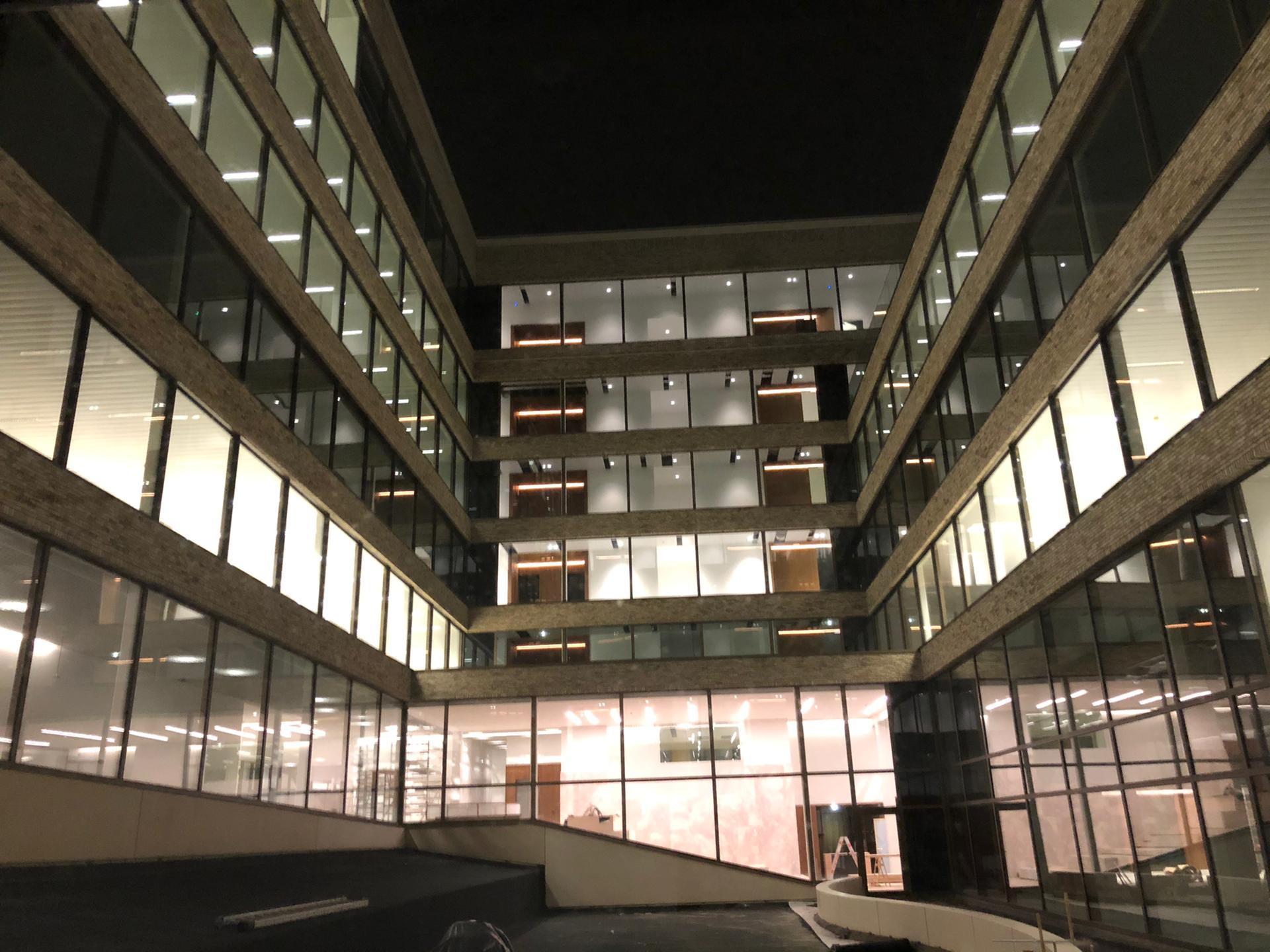 Blowerdoortest kantoren Business Park Kortrijk