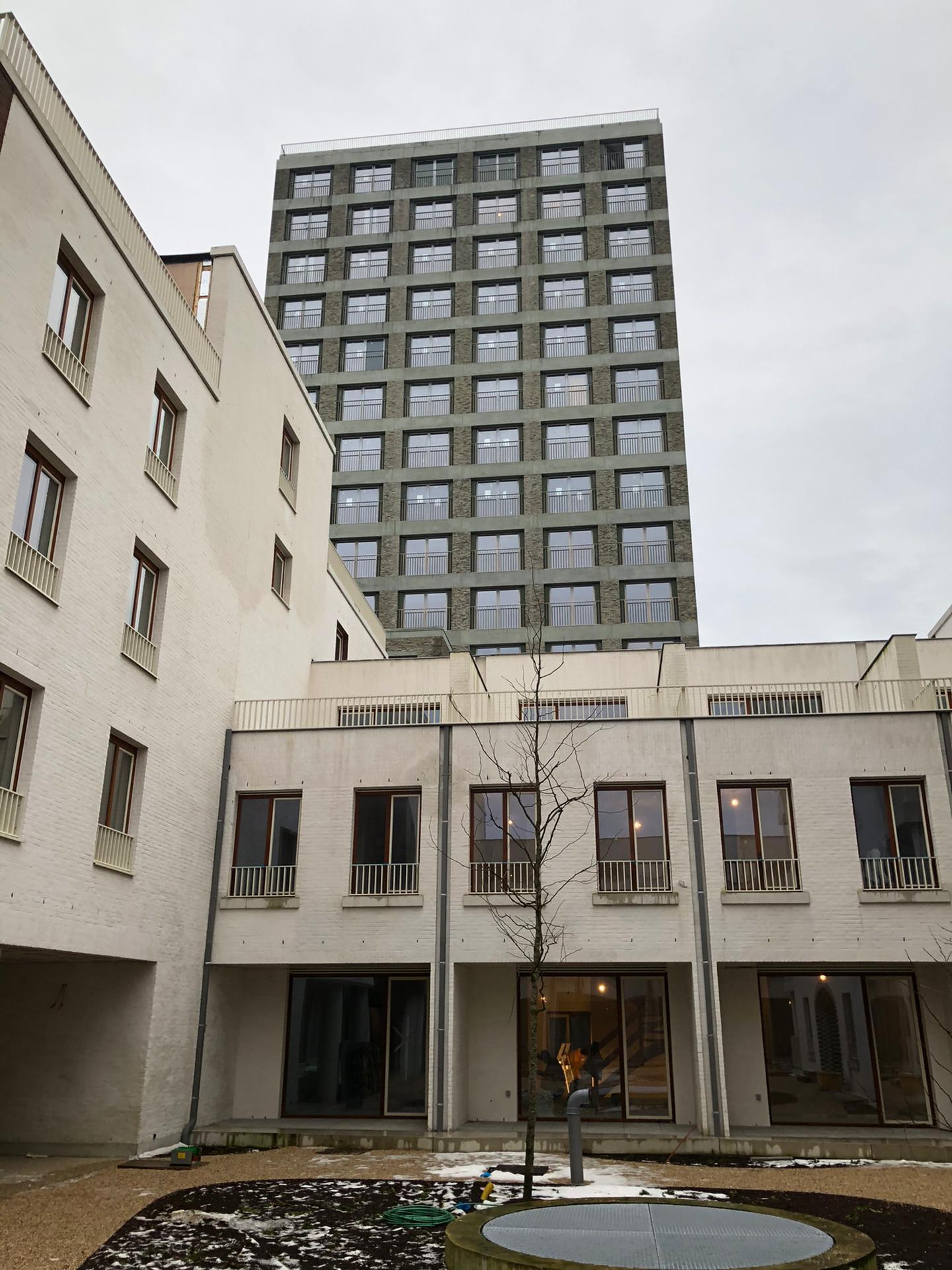 Blowerdoortesten Stapelplein Gent appartementsgebouw