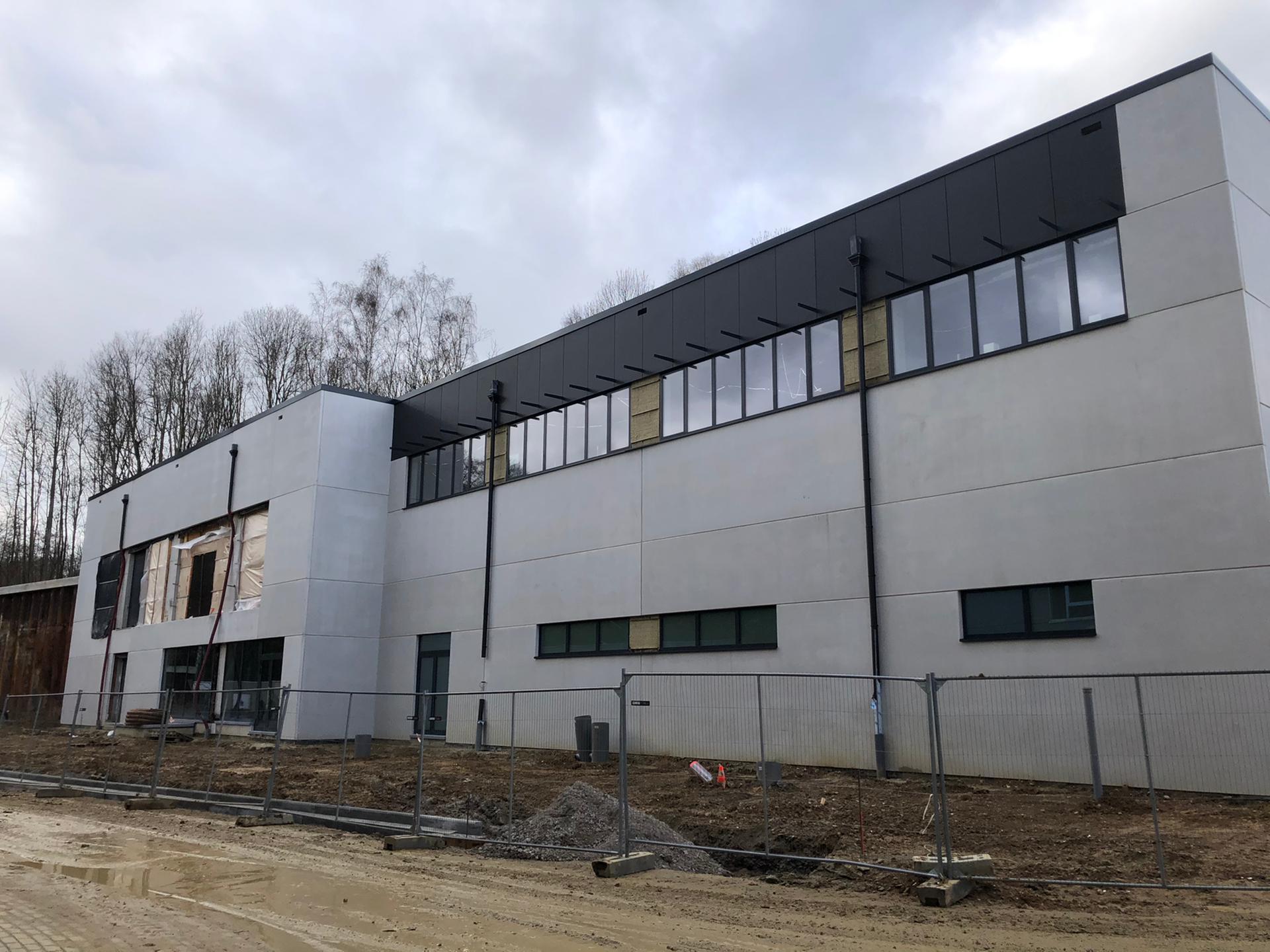 Blowerdoortest VUB Jette research gebouw