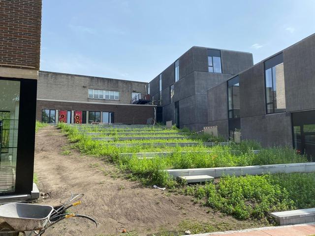 Blowerdoortest Academie Heist-op-denBerg iov Willemen Construct