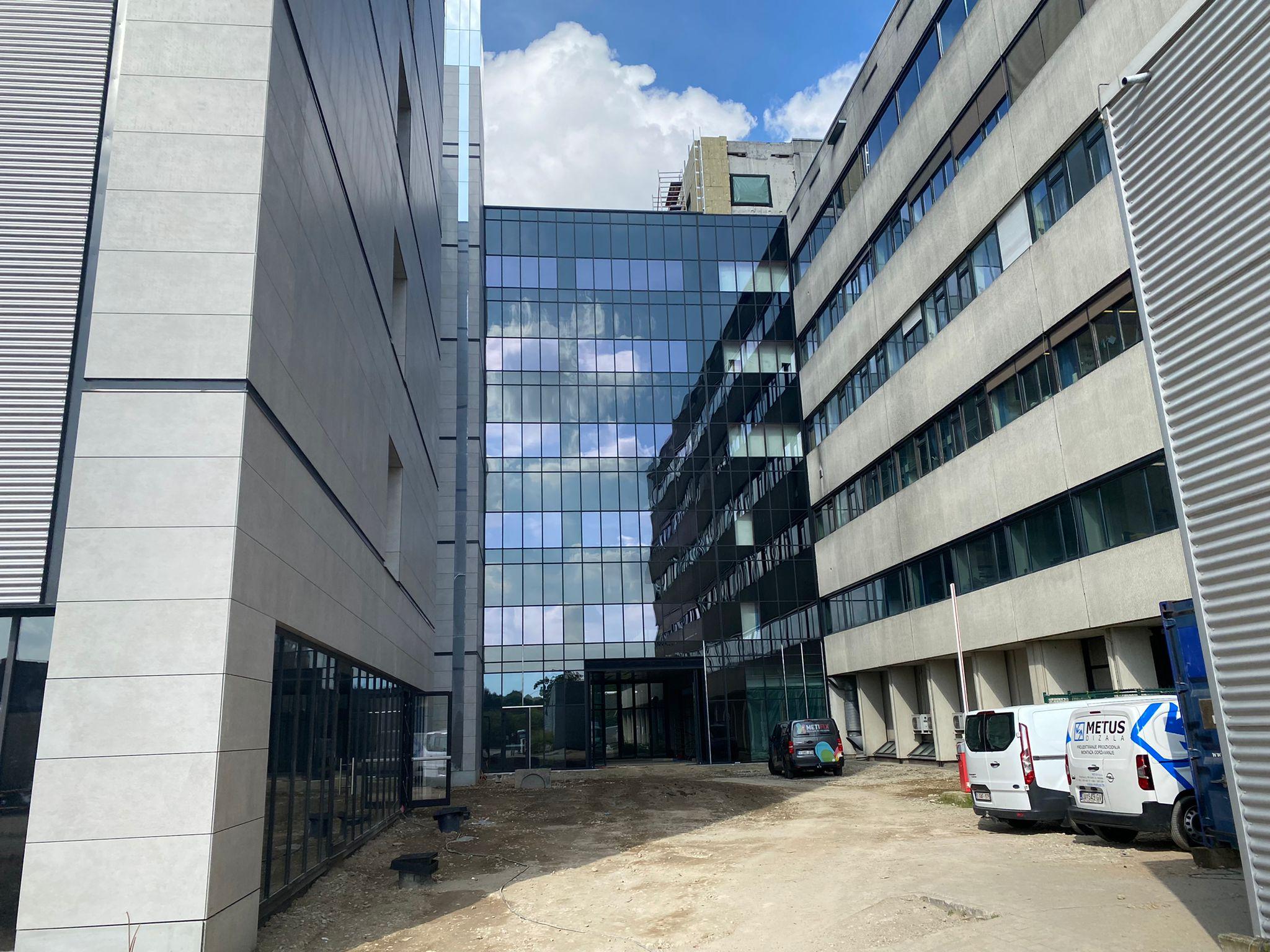 Blowerdoortest ziekenhuisgebouw UZ Antwerpen