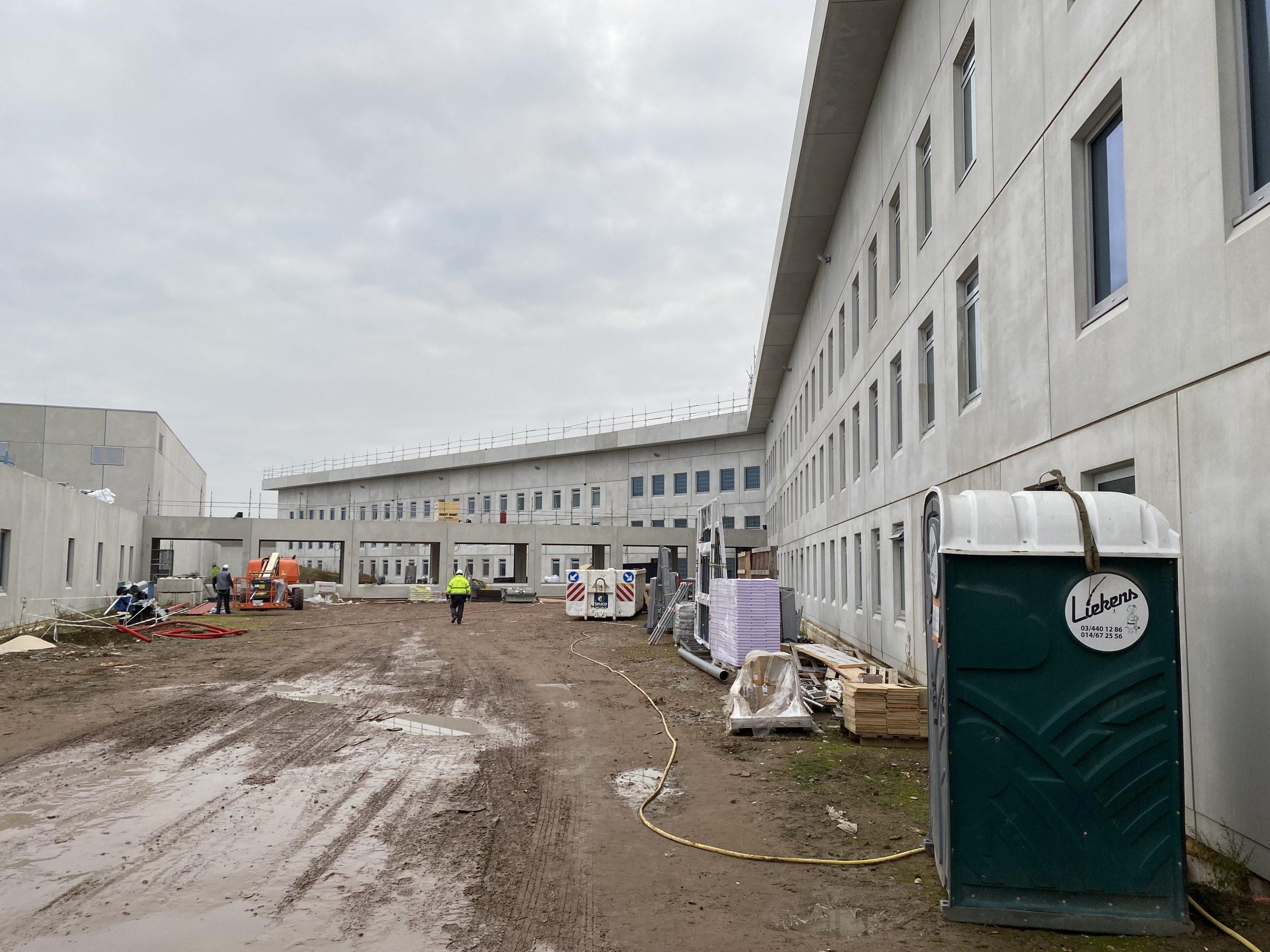 Metifix voert de blowerdoortesten uit in de nieuwe gevangenis te Dendermonde!